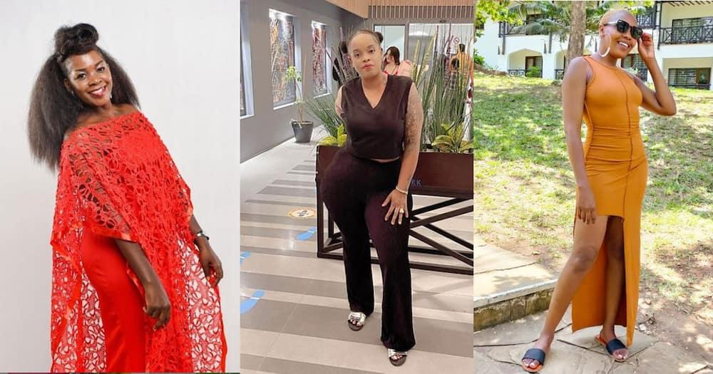 Gloria Muliro (l), Bridget Achieng and Nice Wanjeri (r).