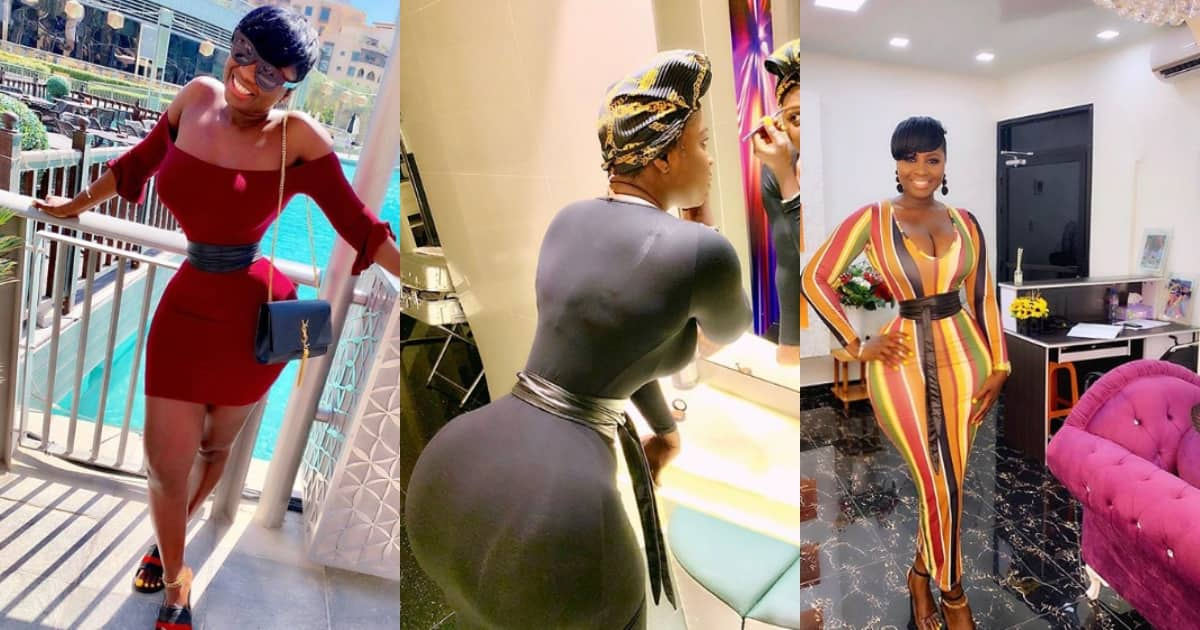 Meet Gambian actress whose wasp-like waist, hypnotising curves leave men craving for more