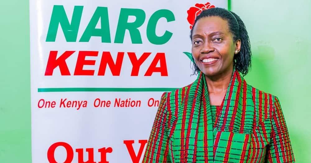 Narc Kenya party leader Martha Karua. Photo: Martha Karua.