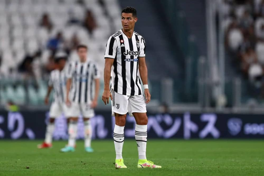 Cristiano Ronaldo in action for Juventus during a friendly match against Atalanta Bergamo on August 14. Photo by Sportinfoto/DeFodi Images.