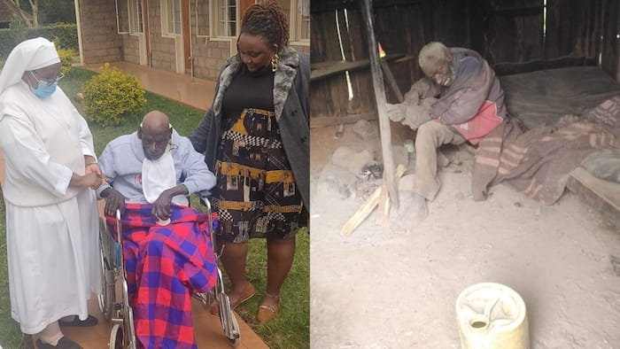 Elderly Kiambu Who Was Abandoned by Family Receives Help from Well-Wishers