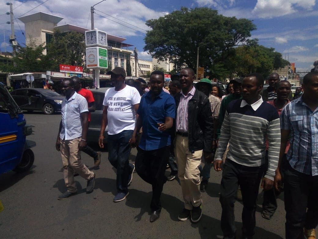 Bahati MP Kimani Ngunjiri breaks down during 'washenzi' protest, accuses Raila of misleading Uhuru