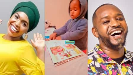 """Comedienne Zeddy's Child Excitedly Points out Boniface Mwangi in Newspaper: """"Bonsha Angi"""""""