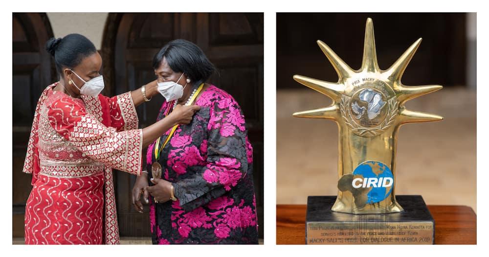 Mama Ngina Kenyatta awarded for ending 2017 political tension, Kenyans not convinced