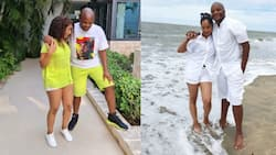 Jalang'o, Wife Amina Step Out in Matching Outfits During Work Vacation in Mombasa