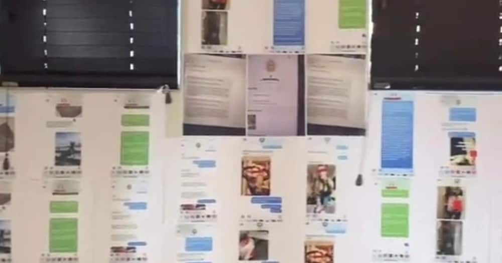 """Woman decorates cheating boyfriend's room with text evidence: """"He 100% denied everything"""""""