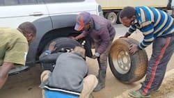 "Boni Khalwale Lauds Nakuru Youths Who Help Him Fix Puncture: ""Hustlers for Hustlers"""