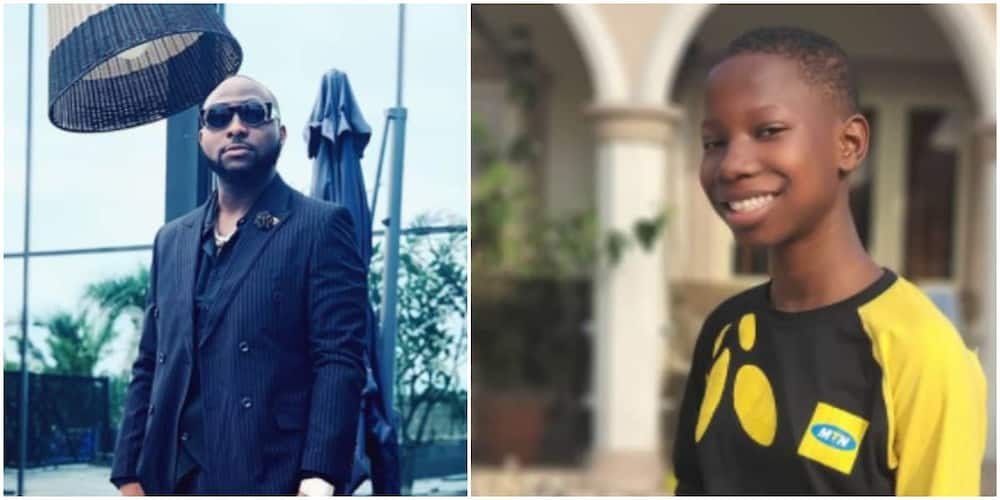 Davido commends Emanuella for building her mother a house