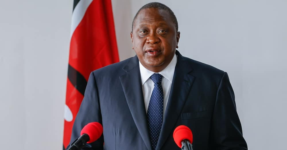 Uhuru in a press address after witnessing the signing of the agreements. Photo: State House Kenya.