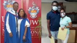 Family Bond: Husband, Wife Graduate from University with Identical Master's Degrees