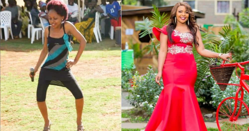 Size 8 remembers dark days as a secular singer with photo from her past