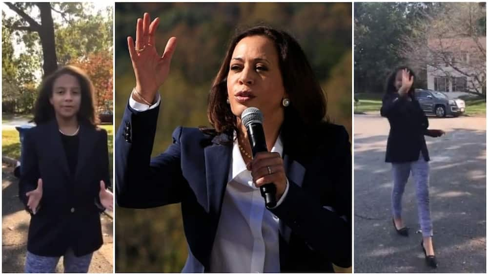 """Vice President hopeful Kamala Harris responds to 11-year-old girl who mimicked her: """"She has my vote"""""""