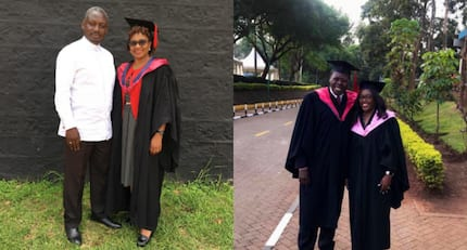 CS Eugene Wamalwa's, MP Otiende Amollo flaunt their rarely seen wives as they graduate
