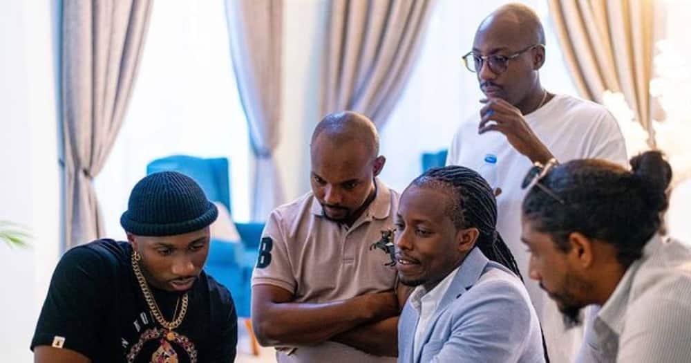 Eugene Mbugua and Bien met top entertainers in Tanzania.