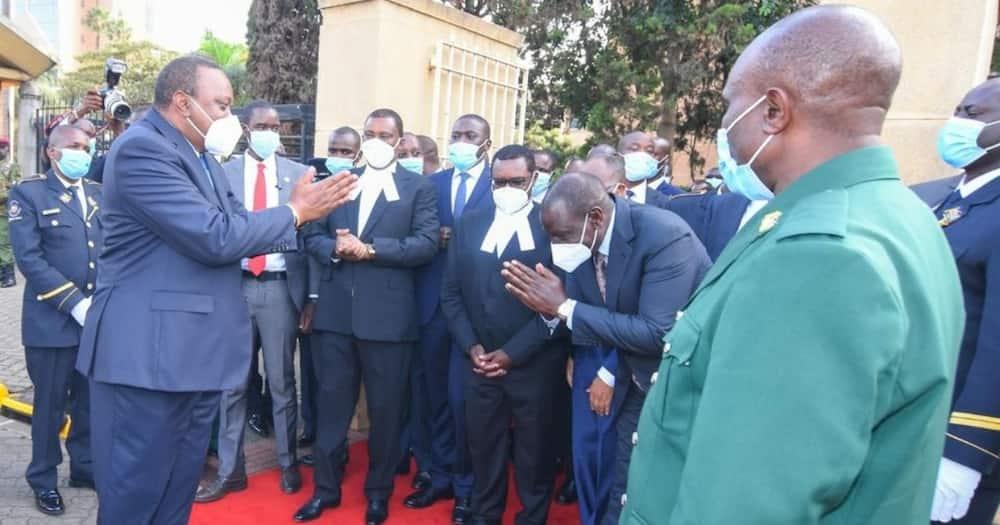 Urafiki umerudi: Picha za Rais Uhuru na Ruto wakati wa hotuba kuhusu hali ya taifa