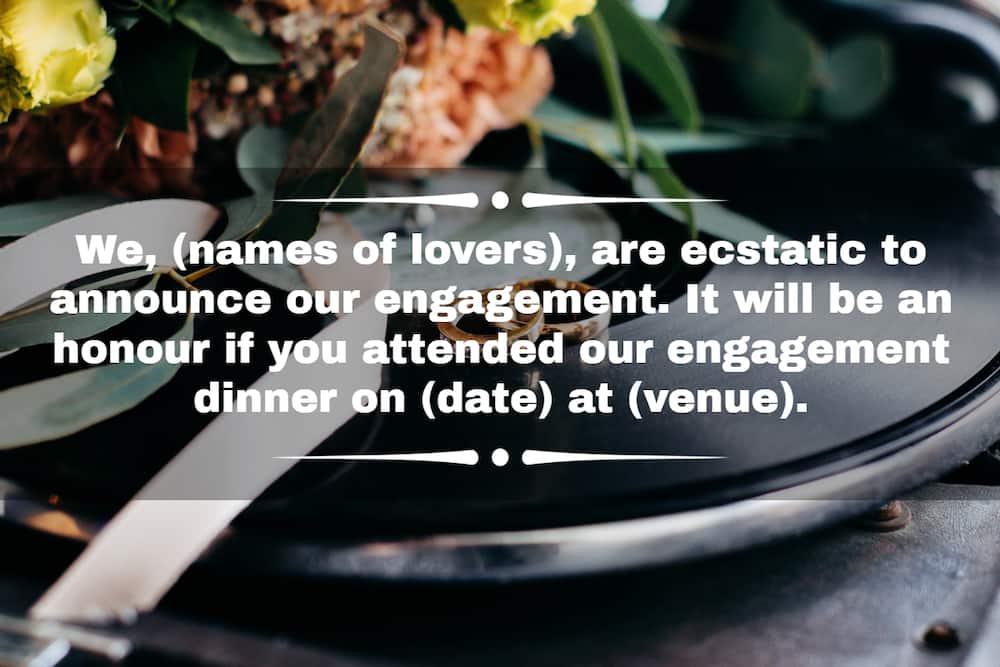 Best engagement invitation message