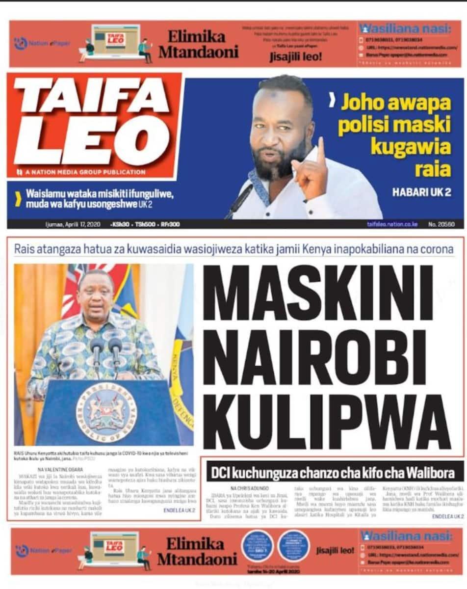 Magazetini Aprili 17: Wazee wa Kikuyu wamuonya DP Ruto dhidi ya kampeni zake za 2022