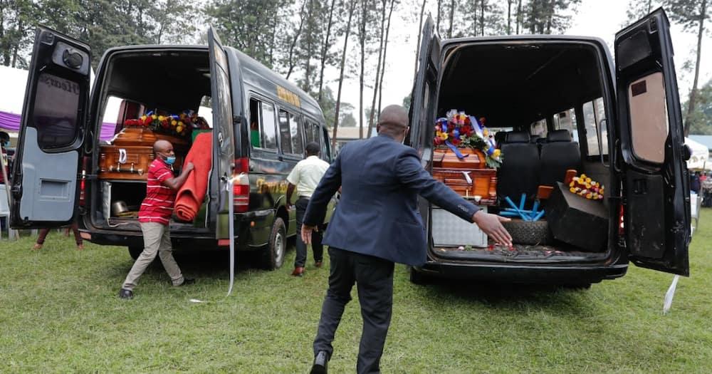 Kianjokoma brothers Benson Njiru and Emmanuel Mutura were buried in Embu.