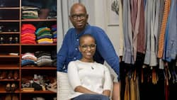 """Bob Collymore's widow showcases his wardrobe as art project: """"Home is where his clothes are"""""""