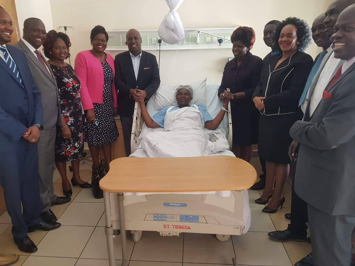 Gideon Moi visits hospitalised Migori Women Rep after road accident on her way to his fundraiser