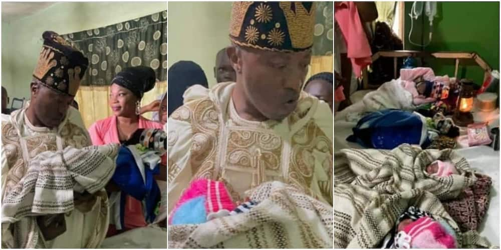 Oluwo visits Quadruplets born on 21st of June, his 54th birthday