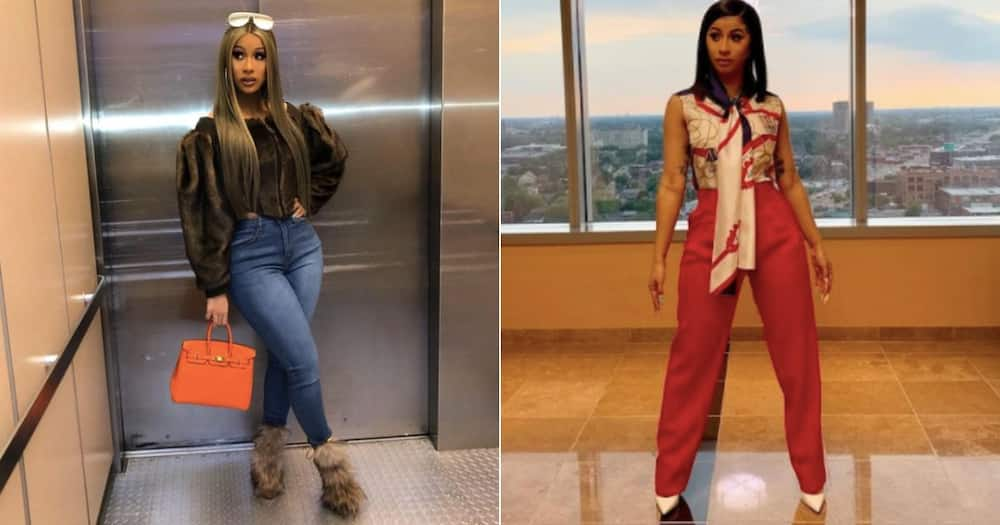Fashion forward: Cardi B performs at Grammys in 8kg outfit