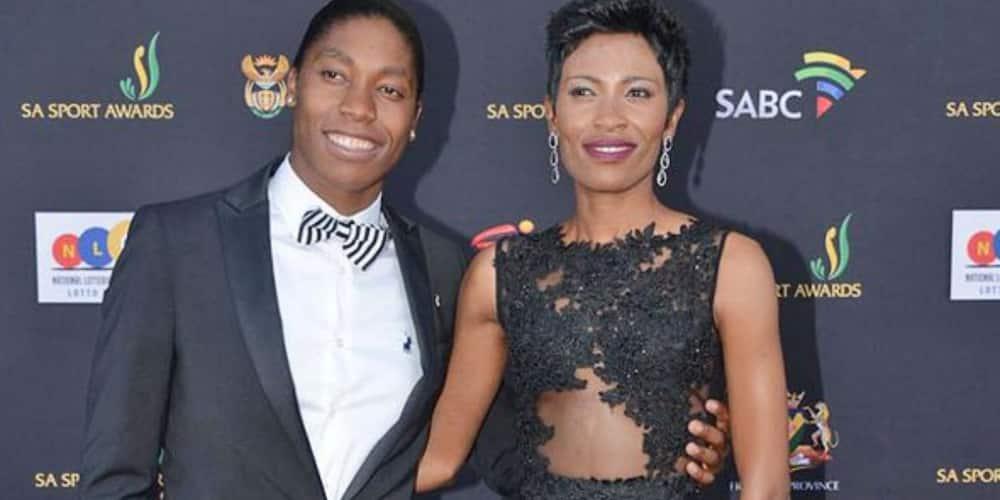 Semenya and wife.
