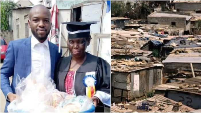 Grateful Son Celebrates Mother Who Sold Bread to Pay His Fees by Dressing in His Graduation Gown