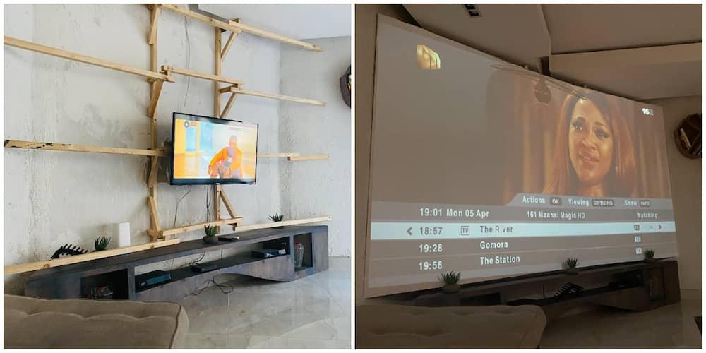Man Impresses Social Media with His Interior Decoration Skills, His 'Projector' Screen Gets Many Talking
