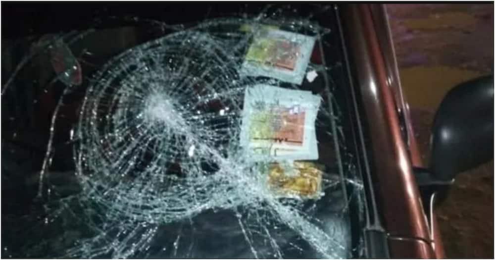 Nairobi taxi driver recounts female client smashing his car's windscreen with gun