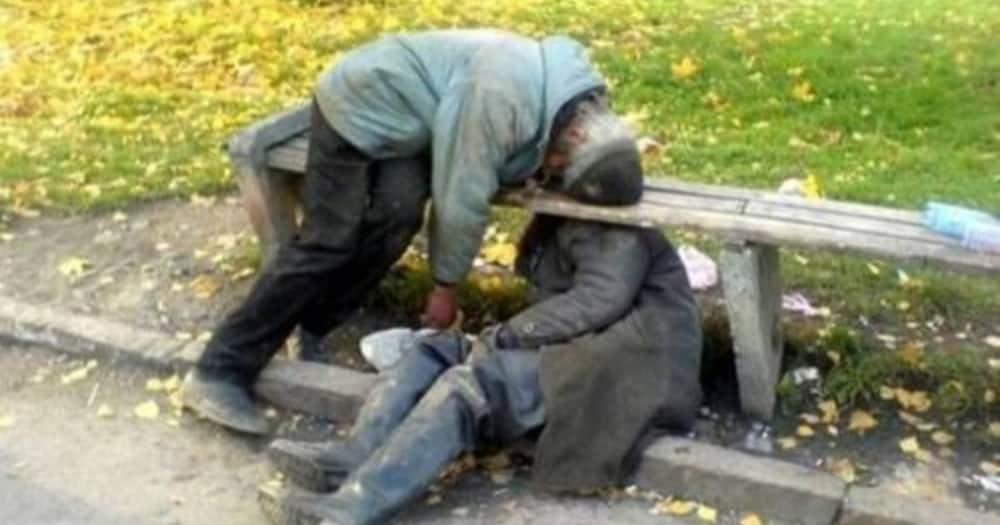 Two drunk men. Photo: LitKenya.