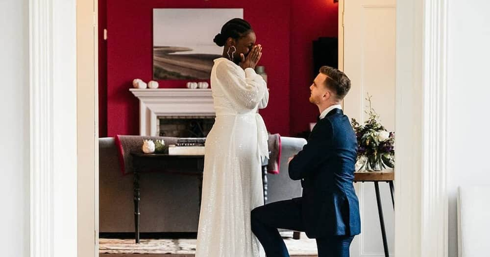 """Interracial Love: Man Shares Stunning Photos, Message After Proposing to Lover: """"Most Beautiful Partner"""""""