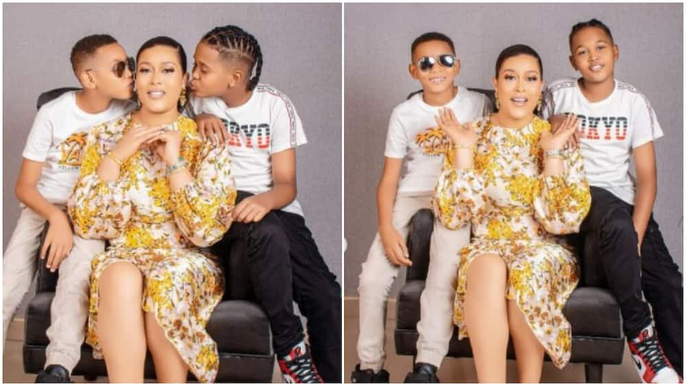 Adunni Ade shows off her children, prays for every parent out there