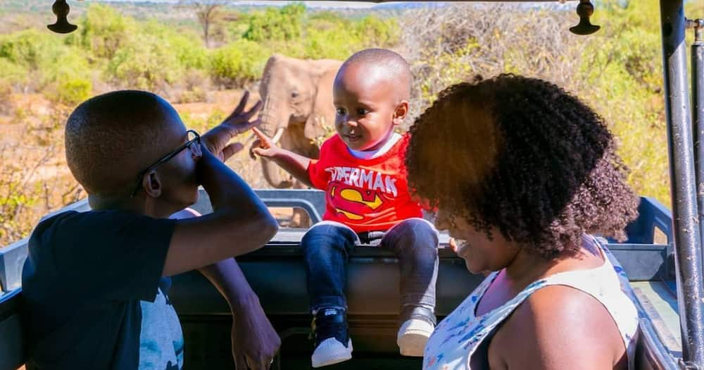 Comedian Njugush and his family on vacation. Photo: Blessed Njugush.