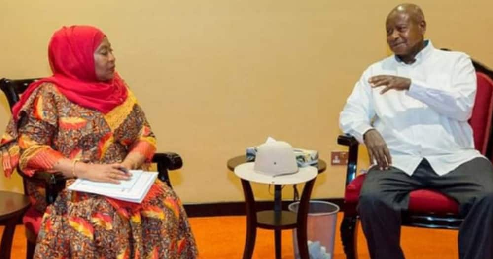 Samia Suluhu in Uganda for Her Maiden Trip Outside The Country