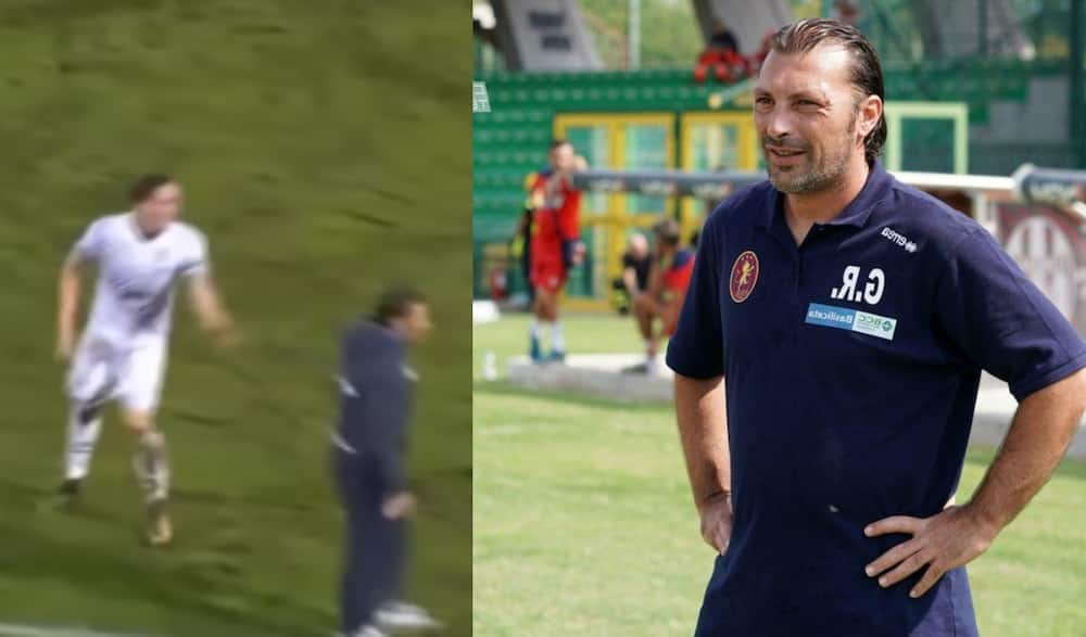 Serie C manager banned for 4 games for tackling opposition player during last minute counter attack