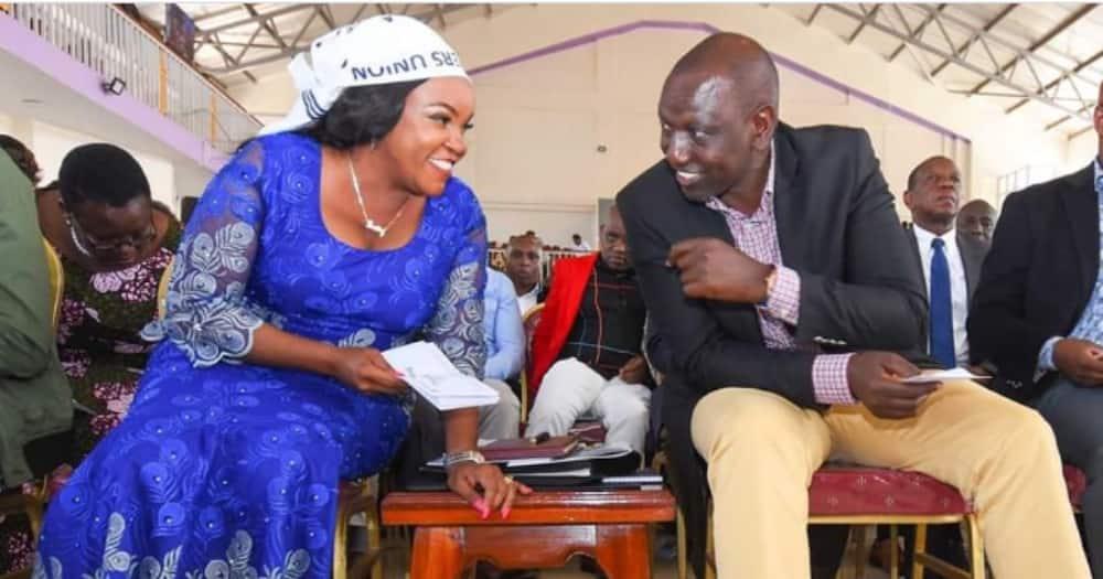 Deputy President William Ruto and Kirinyaga woman representative Wangui Ngirici. Photo: Wangui Ngirici.
