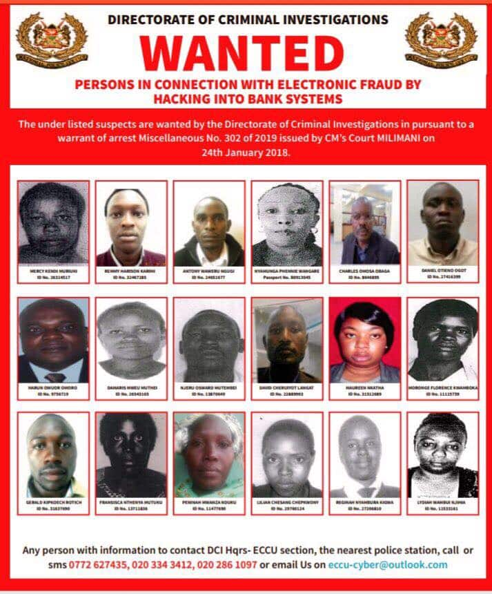 7cfb66d31813e27b - List of Top bank hackers in Kenya wanted by the DCI