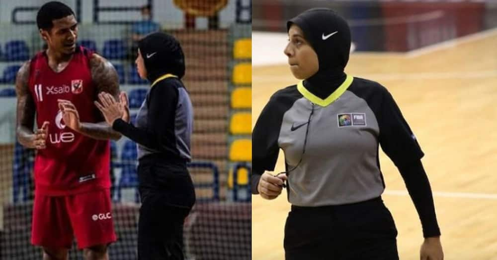 Sara Gamal will make a debut as a basketball coach at the Olympics in Tokyo. Photo: BBC News.