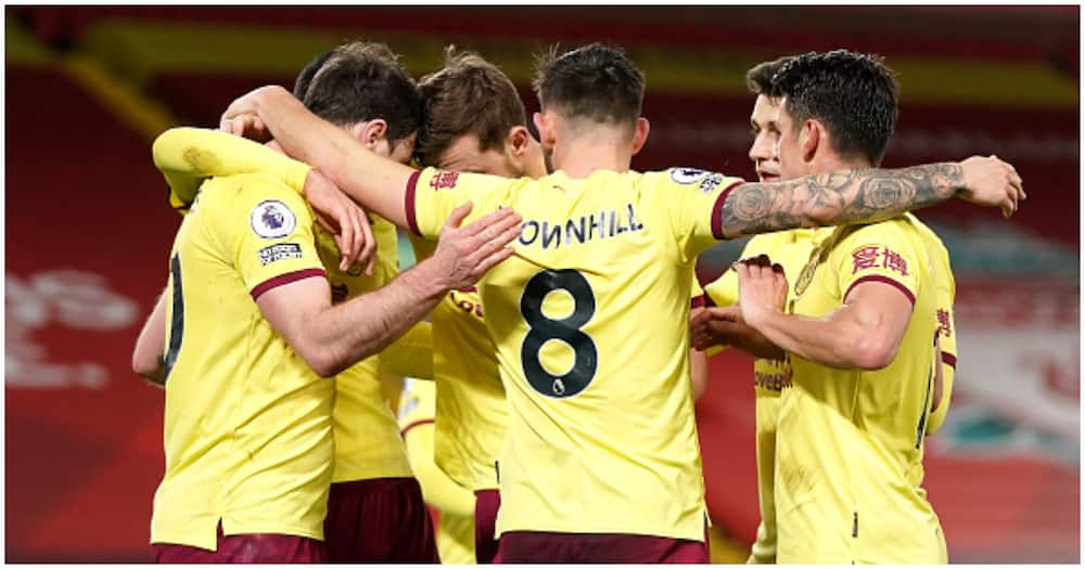 Brave Burnley become first team to beat Liverpool at Anfield in EPL in 3 years