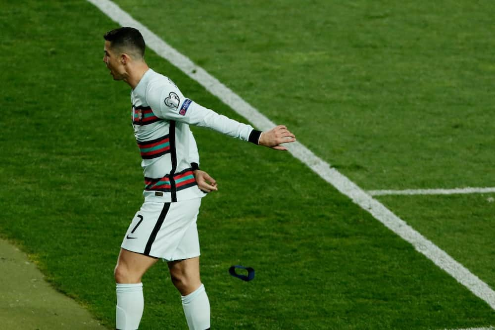Ronaldo finally speaks after slamming Portugal captain armband on the floor while walking off the pitch
