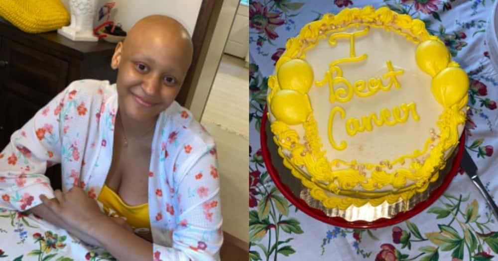 Beautiful photos drop as resilient lady defeats cancer, social media users react