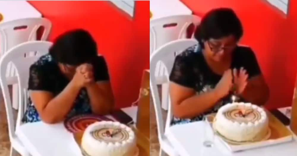 Woman spotted celebrating her birthday on her own at restaurant.