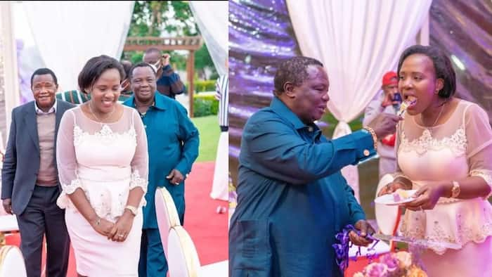 Atwoli Throws Wife Mary Kilobi Glamourous Birthday Party, Hires Local Band to Serenade Her