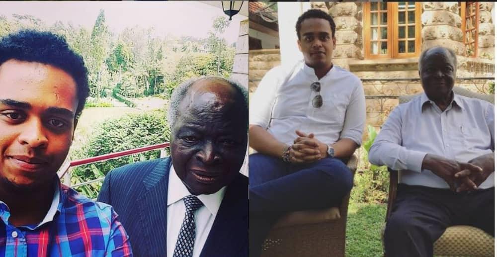 5 years on: Mwai Kibaki's grandson showcase love he had for wife Lucy Kibaki in timeless photo
