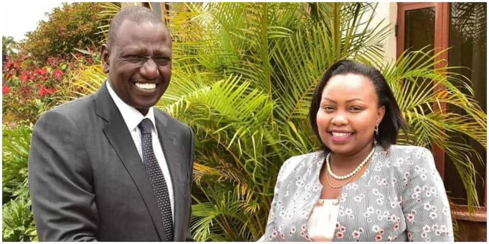 Deputy President William Ruto and Nominated Senator Milicent Omnanga. Photo: PD
