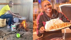 Samidoh Excites Fans with Photo of Himself Cooking Ugali on 3-Stone Stove