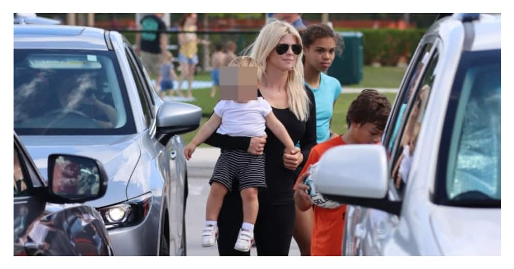 Elin Nordegren: Tiger Woods' ex-wife seen with their children as golfer recovers from accident