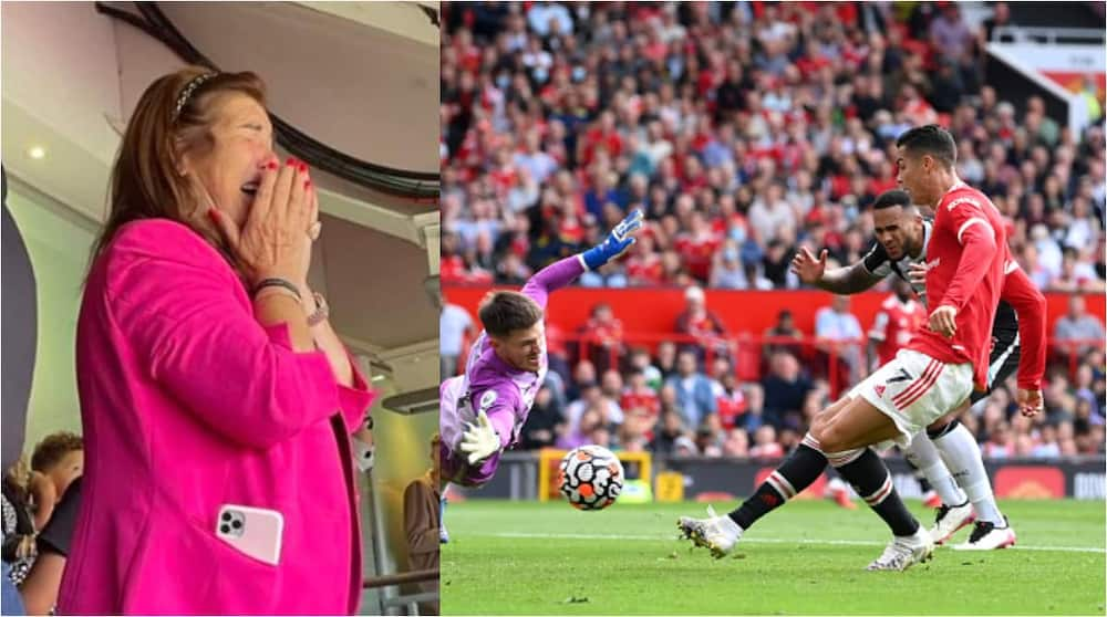 Cristiano Ronaldo's Mom Reduced to Tears at Old Trafford After Watching Her Son Score Brace for Man United