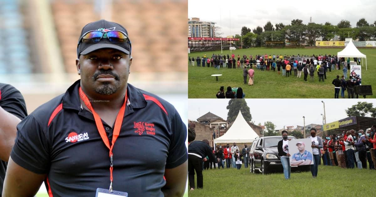 Wananchi Wauaga Mwili wa Aliyekuwa Kocha wa Raga, Benjamin Ayimba katika Uwanja wa RFUEA ▷ Kenya News